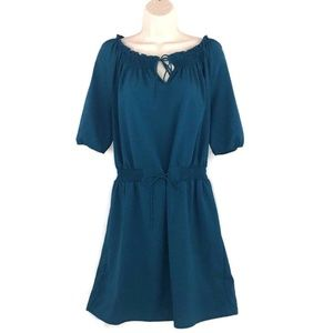 Ann Taylor LOFT Mini Dress Size Medium turquoise